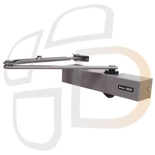 Briton 2003V Size 1-4 Overhead Door Closer With Backcheck