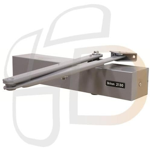 Briton 2130BD Size 2-6 Overhead Door Closer With Backcheck & Delayed Action