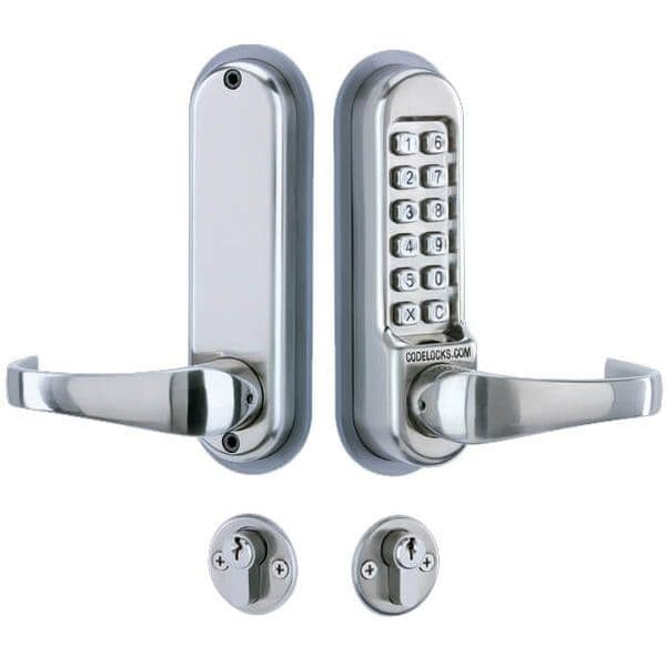 Codelock CL525 Digital Lock, Mortice Lock with Cylinder and Anti Panic safety Function and Code Free