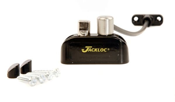 Jackloc Pro Twist Push and Turn Cable Window Restrictor - Available in White, Black, Brown & Grey