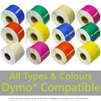 Dymo Compatible Roll Labels - All Colours