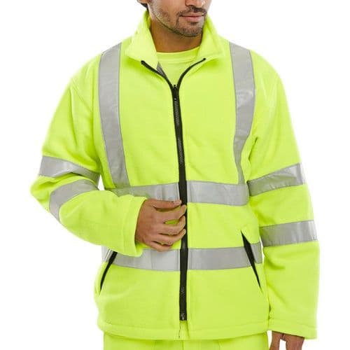 BSeen Yellow Hi Vis Carnoustie Fleece Jacket