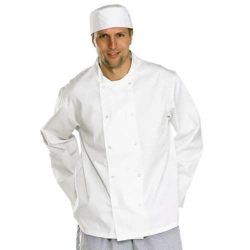 Click Chefs Long Sleeve White Jacket