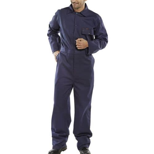 Click Cotton Drill Navy Boilersuit