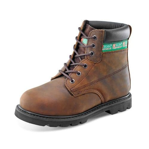 Click Goodyear Welted Brown Safety Boots
