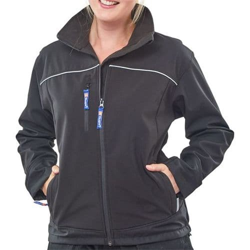 Click Ladies Black Soft Shell Jacket