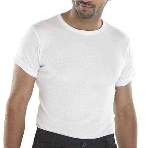 Click Thermal White Short Sleeve Vest