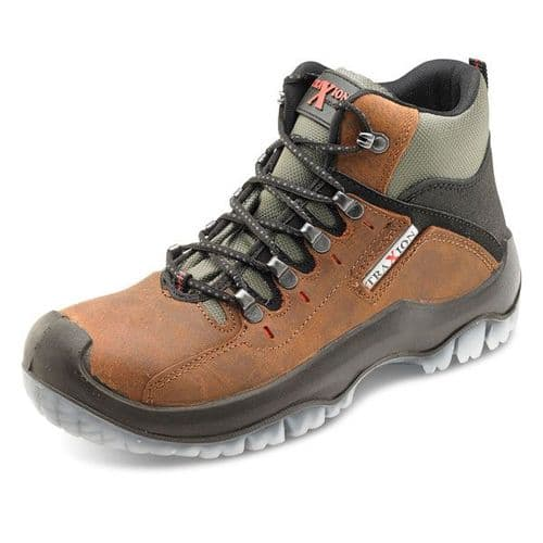 Click Traders Traxion Brown Safety Boots
