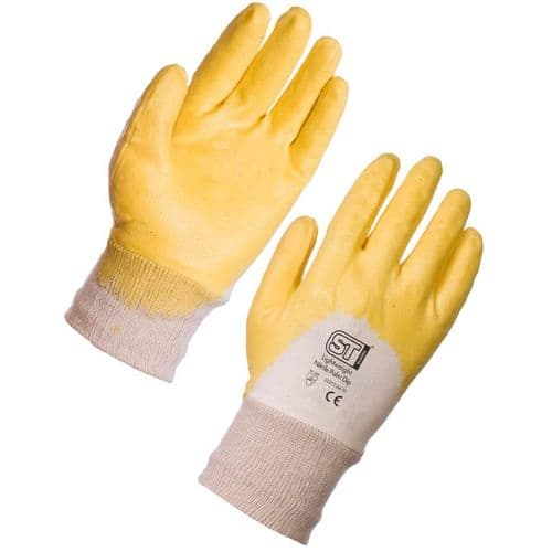 Nitrile Lightweight Yellow Palm Dip Gloves - 120 Pairs