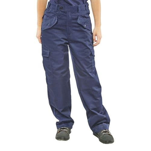 Super Click Ladies Navy Trousers