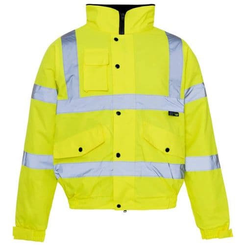 Supertouch Hi Vis Yellow Storm Bomber Jacket