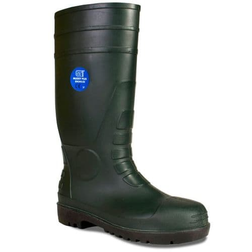 Supertouch Muddy Plus Green Safety Wellingtons