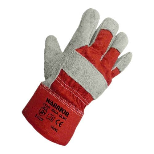 Warrior Red Back Rigger Gloves - 120 Pairs
