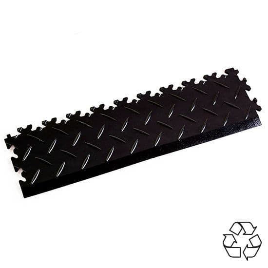 Black Recycled Diamond Plate - Tile Edging PVC | Mototile Shop