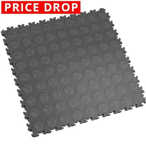 Dark Grey Cointop - Motolock Interlocking Floor Tile