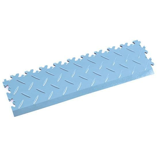 Light Blue Diamond Plate - Interlocking Tile Edging | Mototile Shop