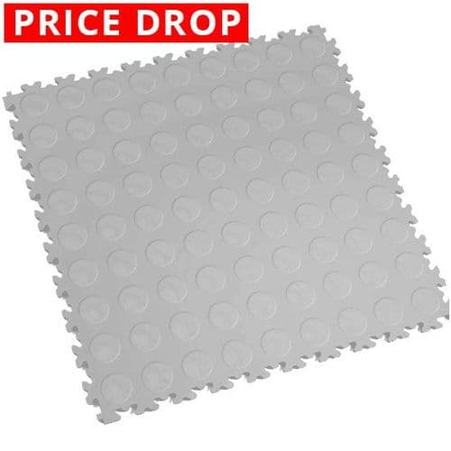Light Grey Cointop - Motolock Interlocking Floor Tile