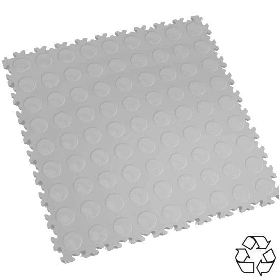Light Grey Recycled Cointop - Motolock Interlocking Tile | Mototile Shop
