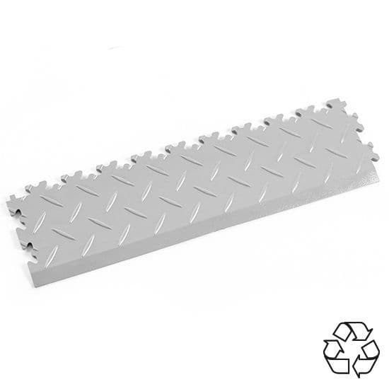 Light Grey Recycled Diamond Plate - Tile Edging PVC | Mototile Shop