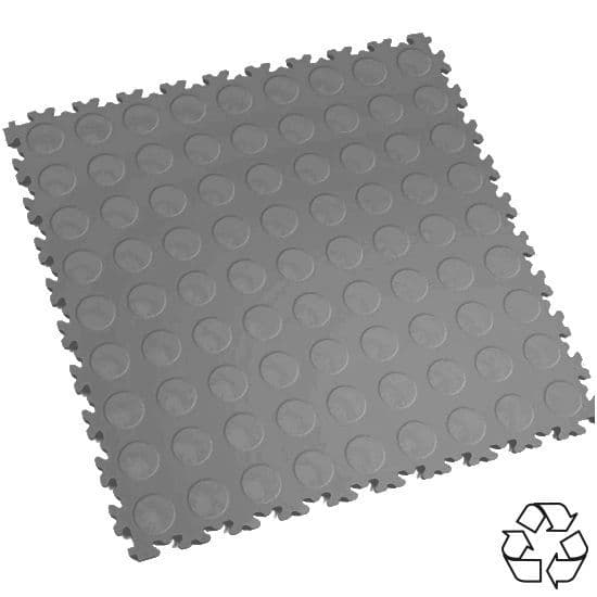 Mid Grey Recycled Cointop - Motolock Interlocking Tile | Mototile Shop