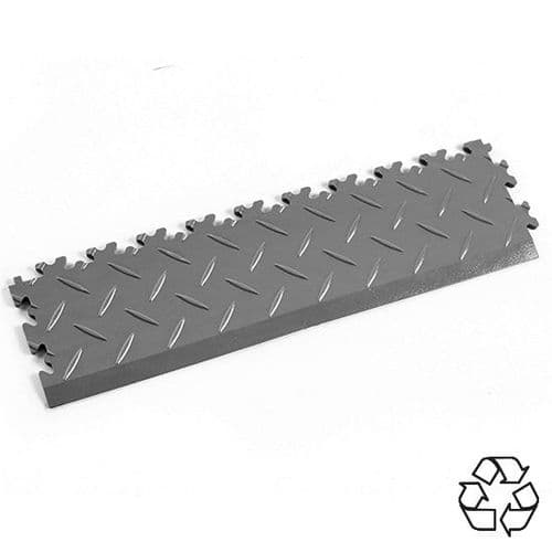 Mid Grey Recycled Diamond Plate - Tile Edging PVC