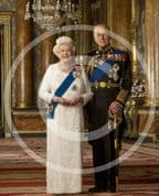 Official Image of HM The Queen and HRH The Duke of Edinburgh in uniform - D5/JC