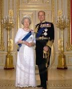 Official Image of HM The Queen and HRH The Duke of Edinburgh in uniform - D5/ML