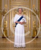 Official Image of HM The Queen in evening dress - Full Length - D3/ML
