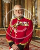 Official Image of HRH The Duke of Edinburgh wearing Canadian Orders - D2/CAN/JC