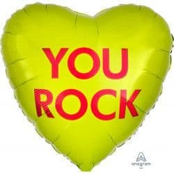 """*Anagram 18"""" S40 Candy Heart You Rock Packaged"""