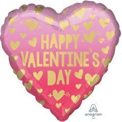"""*Anagram 18"""" S40 Pink Ombre Happy Valentine's Day Packaged"""