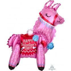 """*Anagram A70 Multi Balloon Shape Llama Standing Happy Valentine's Day 18""""x22"""" Packaged"""