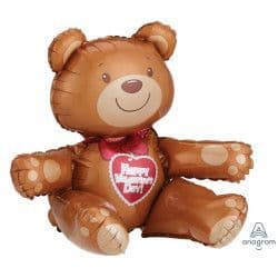 *Anagram A70 Multi Balloon Sitting Bear Valentine's Day Packaged 17