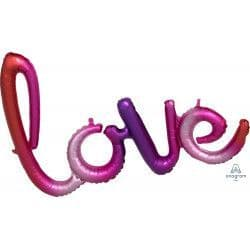"""*Anagram G40 Shape Love Ombre Script Phrase 31""""x21"""" Packaged"""