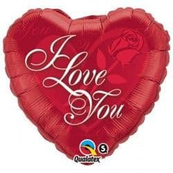 """*RED ROSE I LOVE YOU 18"""" PKT"""