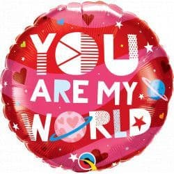 """*YOU ARE MY WORLD 18"""" PKT"""