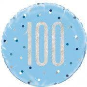100TH Birthday Blue Glitz