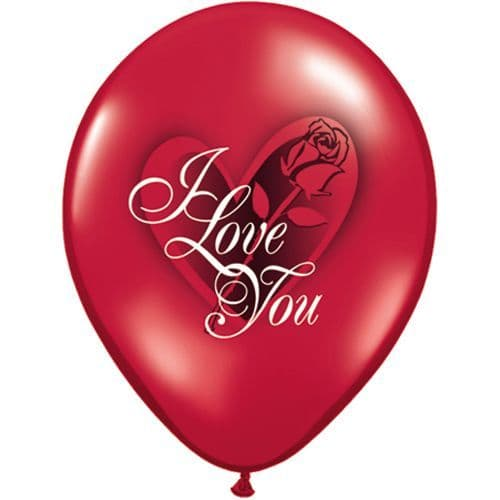 11 INCH I LOVE YOU RED ROSE LATEX BALLOONS (6)