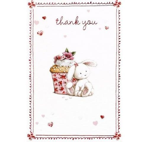 12 Individually Wrapped Cards - Thank You - Bunny