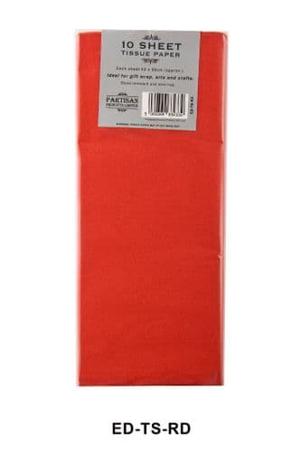 12 Sheet Tissue Paper Red