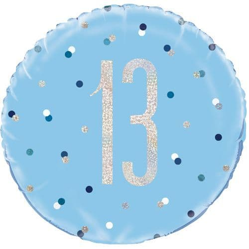 13th  Birthday Blue Glitz