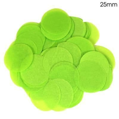 14g Lime Green Paper Confetti 25mm