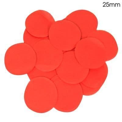 14g Red Paper Confetti 25mm