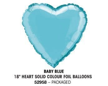 "18"" BABY BLUE HEART PACKAGED"