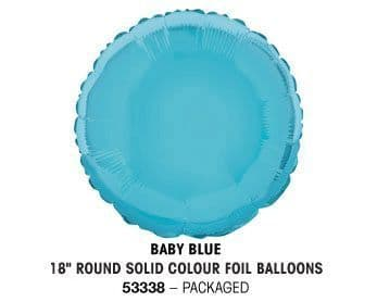 """18"""" BABY BLUE ROUND PACKAGED"""