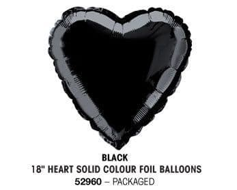 "18"" BLACK HEART PACKAGED"