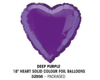 "18"" DEEP PURPLE HEART PACKAGED"