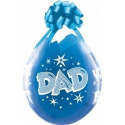 """18"""" Diamond Clear Dad You're The Best Stuffing Balloons  25ct"""