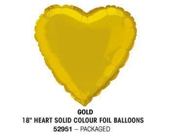 "18"" GOLD HEART PACKAGED"