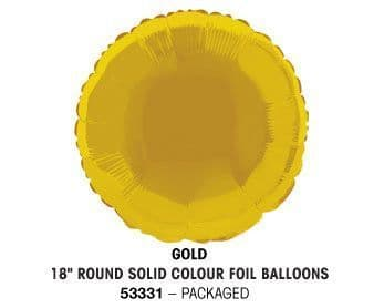"""18"""" GOLD ROUND PACKAGED"""